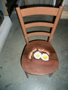 Bacon and egg chair